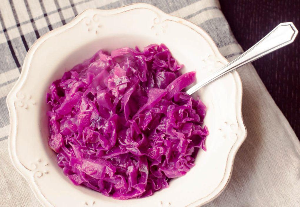 Salada de Repolho Roxo