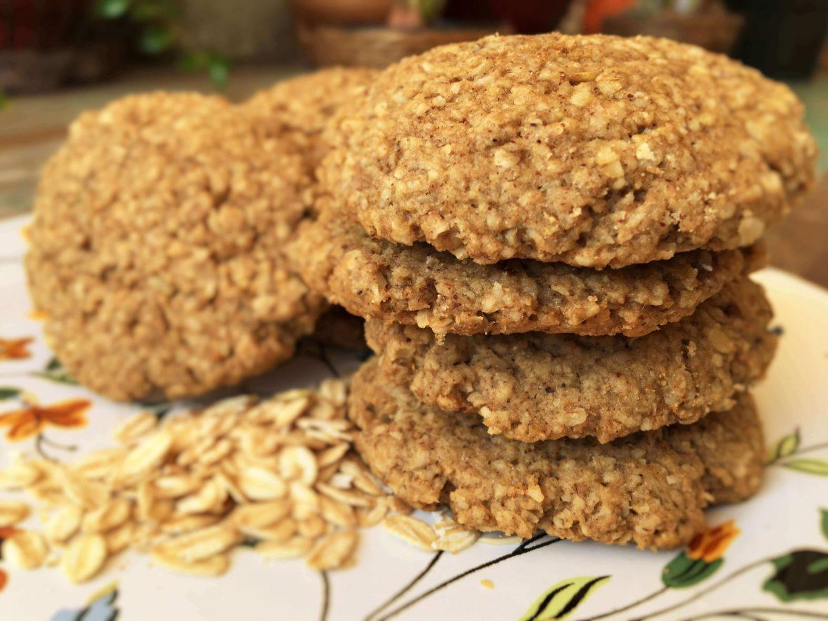Cookies de Aveia com Especiarias