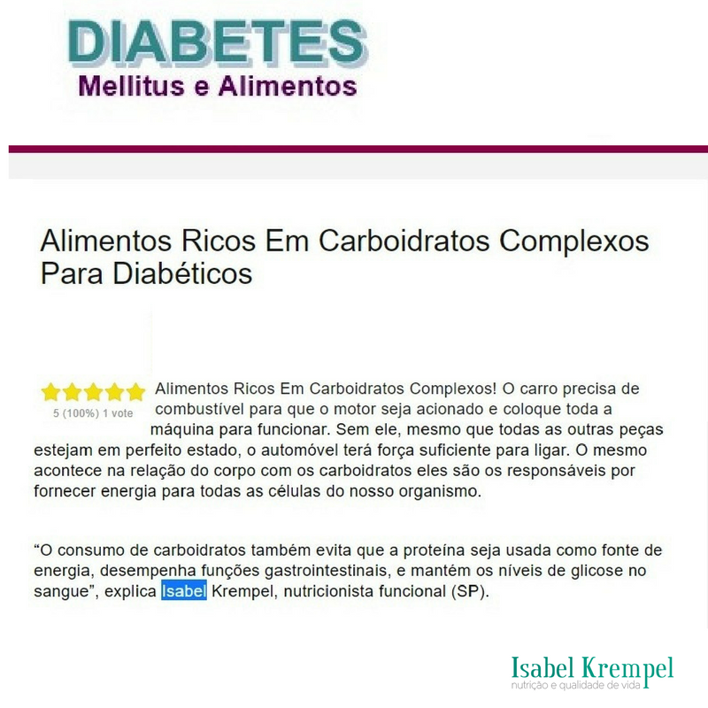 Artigo sobre Carboidratos