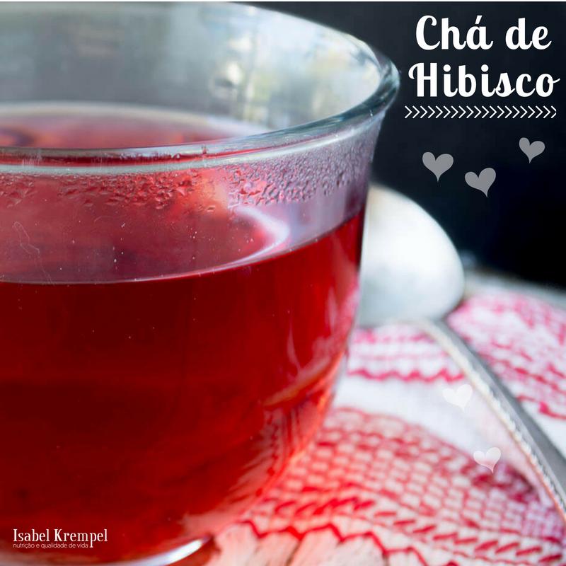 Chá de Hibisco com Maçã e Canela