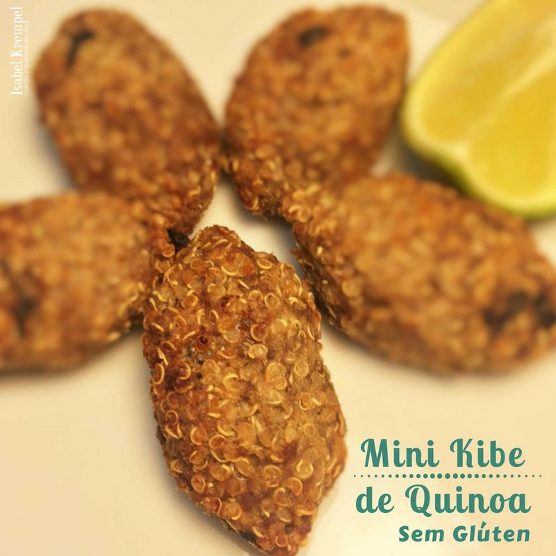 Mini Kibe de Quinoa sem Glúten
