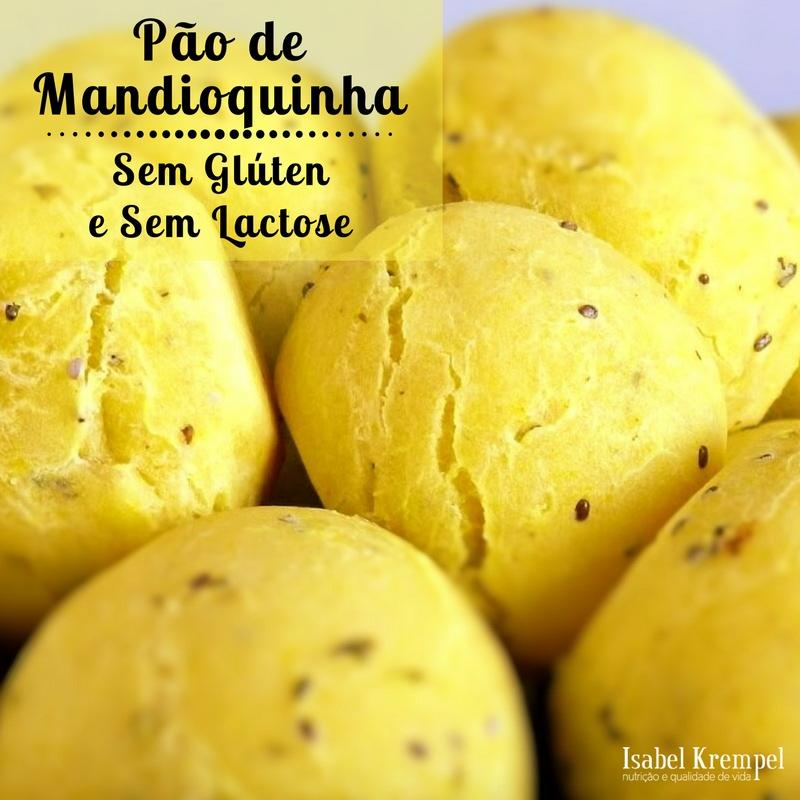 Pão de Mandioquinha sem Glúten e sem Lactose