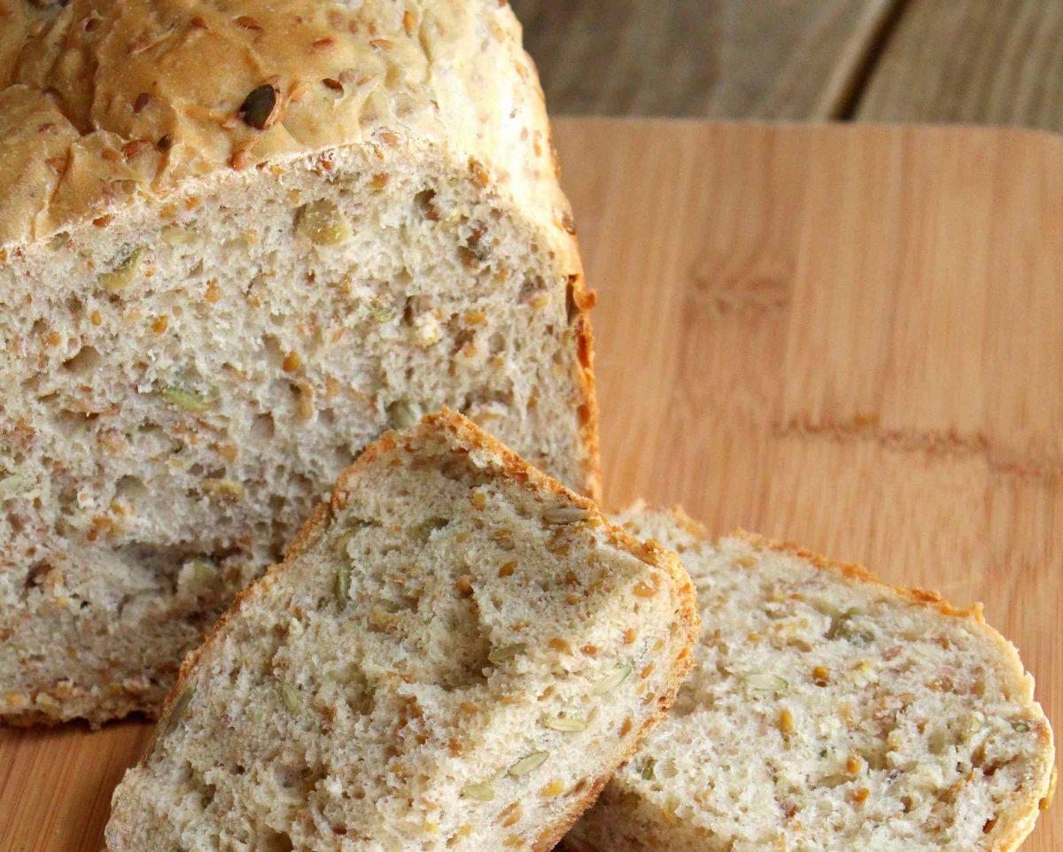 Pão de Linhaça sem Glúten e sem Lactose